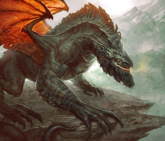 Andrew Olson ilustrações digitais fantasia arte conceitual Dragão da montanha