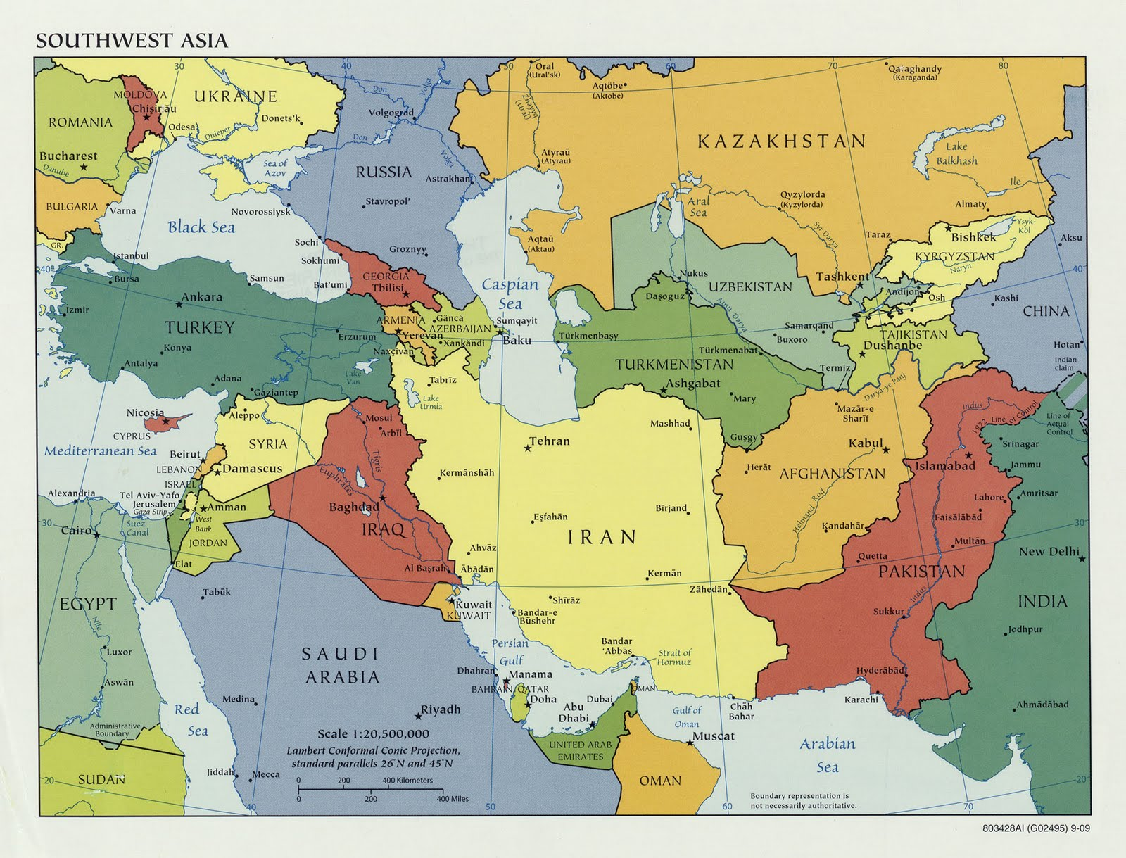 North Africa Southwest Asia And Central Asia Physical Map Game