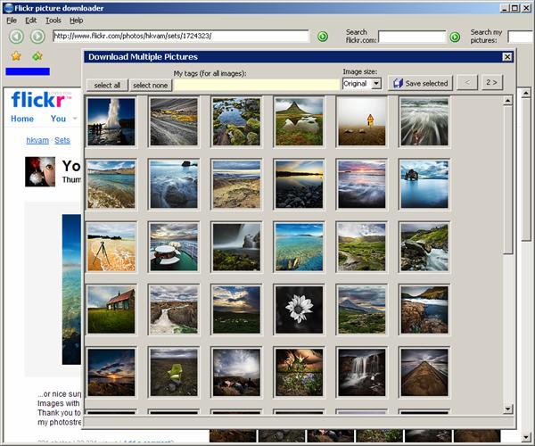 как сохранять фото из flickr