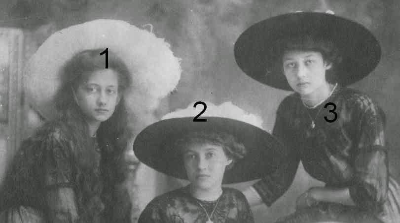 Antonia, Charlotte et Hilda de Luxembourg