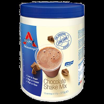 My happy kitchen test: Atkins shake mix chocolade