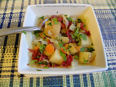 ... Cooking Around The World: Quick Corned Beef , Cabbage and Potato Soup