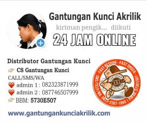 Info pemesanan Ganci Akrilik Sablon