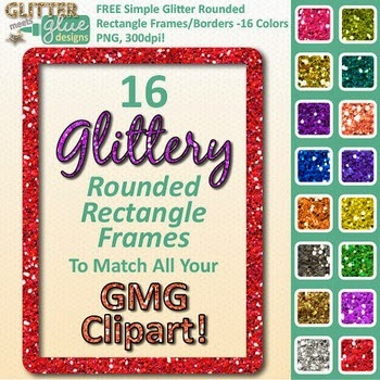 Free Simple Glitter Rounded Rectangle Clipart by Glitter Meets Glue