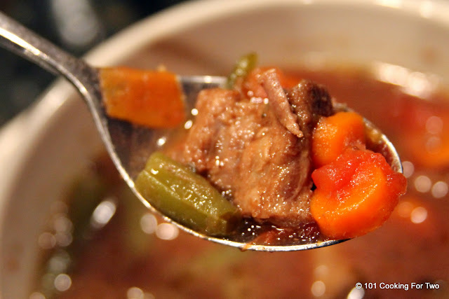 Easy Crock Pot Vegetable Beef Soup from 101 Cooking For Two