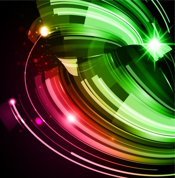 Imágenes de diseño luminoso sobre fondo oscuro g