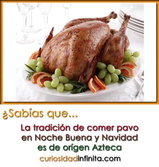 origen de comer pavo en navidad y noche buena, azteca