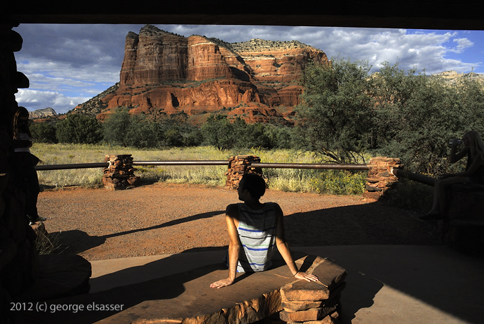 """image of a Sedona viewing shelter"" (c) 2012 george elsasser"