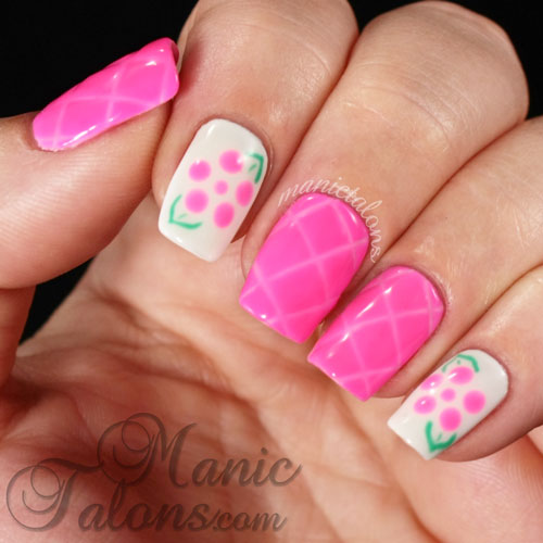 Quilted Nails, Gel Polish, Dot flowers, Couture Gel Polish