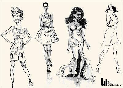 bozzetti di moda donne