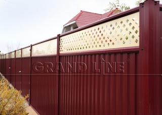 """Модульный забор из профнастила Grandline """"Премиум Плюс"""". Фото 1"""