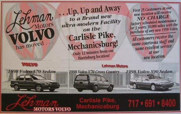 Lehman volvo cars 15 years ago for Euro motors harrisburg pa