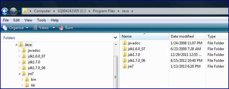 no java version is installed on this machine
