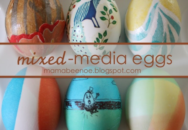 mixed -media eggs