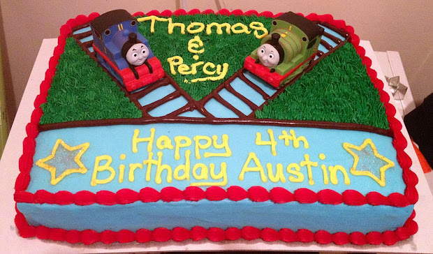 Thomas And Friends Sheet Cake