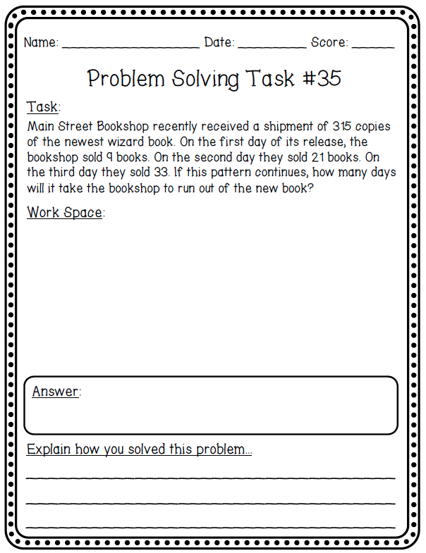Problem solving year 3