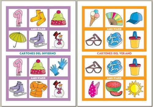 Loteria en inglés para niños - Imagui