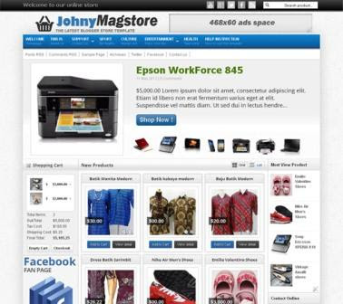 Download Johny Megastore Blogge Template
