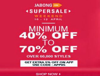 Supersale Weekend 10 -12 April – Buy Footwear, Accessories, Clothes and many more : Buy To Earn