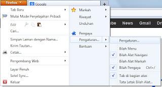 Firefox -> Pengaturan -> Pengaturan