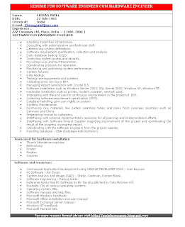 tag resume for software engineer cum hardware engineer format for resume - Hardware Engineer Sample Resume