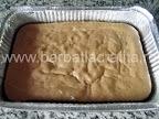 Prajitura cu vanilie preparare reteta - blatul scos din cuptor