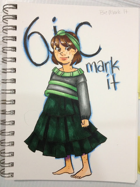 colored with Bic Mark It markers
