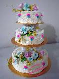Kek Kahwin 3 tier (Buttercream) - dari RM225.00