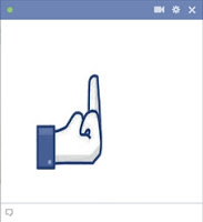 Middle Finger Big Chat Code Emotion For Facebook