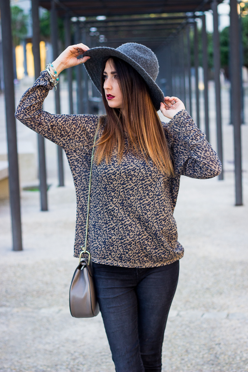 zara sweater leopard