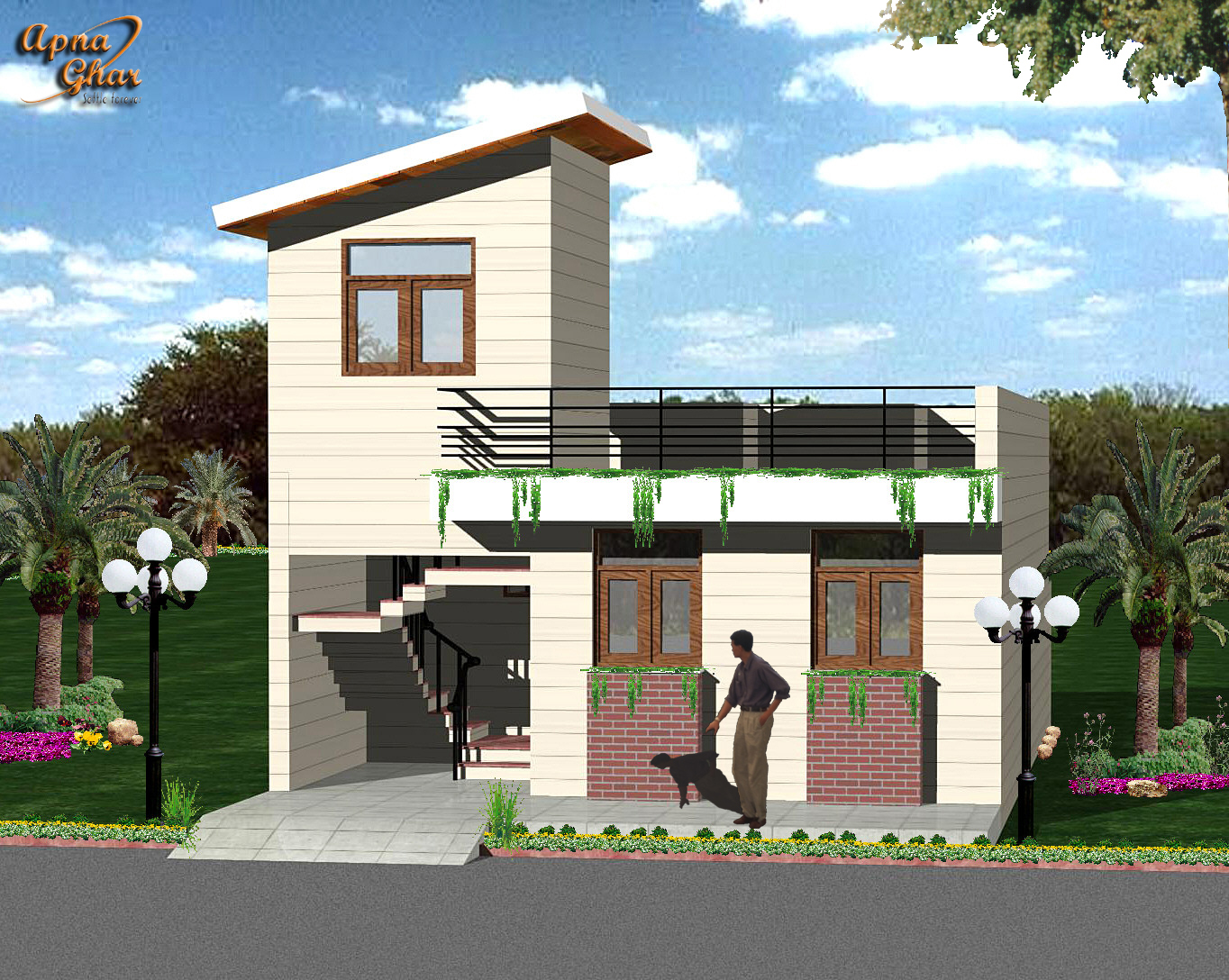 Images indian house front indian house design single floor house. Indian Home Front Design Images   Modern House