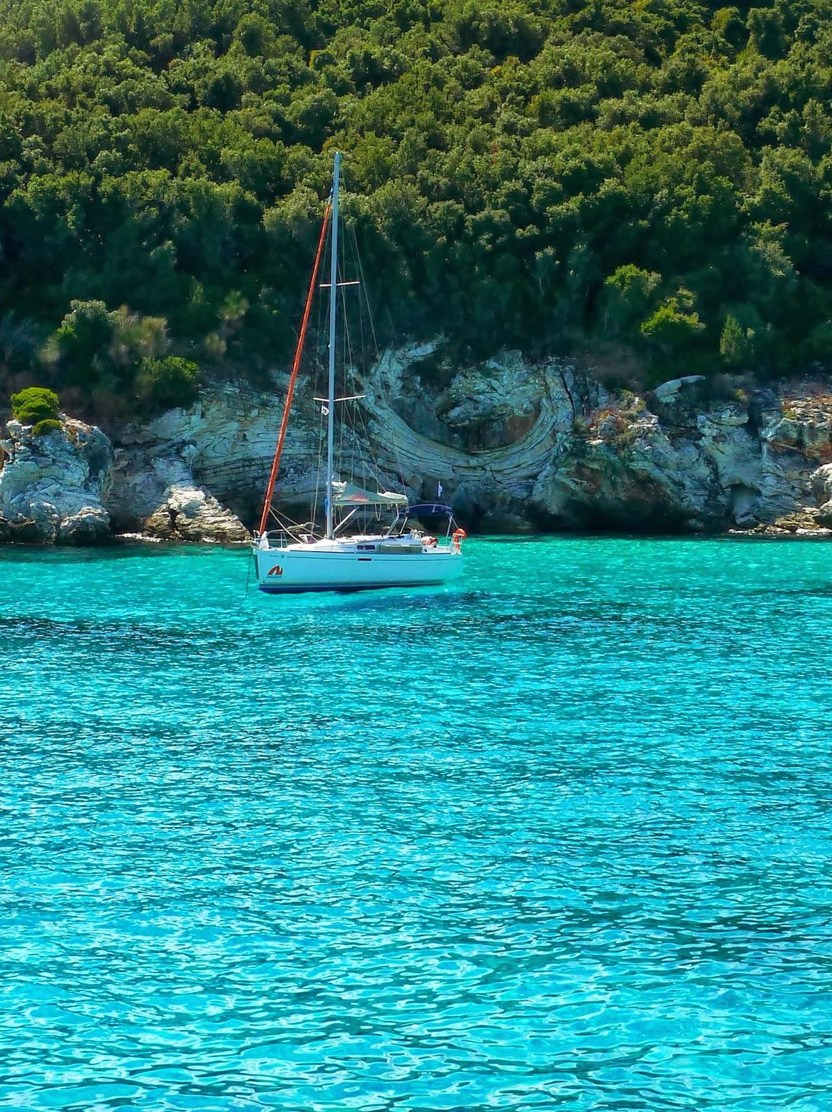 Das Meer bei Antipaxos (Griechenland)