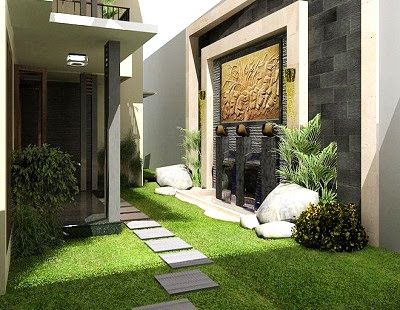 desainnya sesuaikan desain taman rumah dengan konsep desain rumah anda
