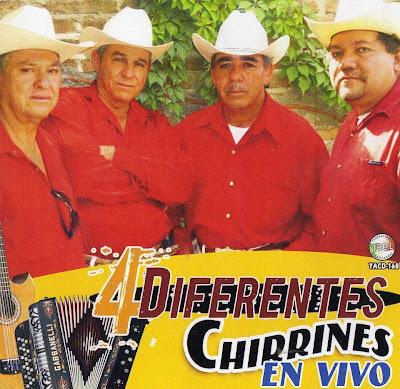 Los Cuatro Diferentes - Chirrines En Vivo (Disco - Album)