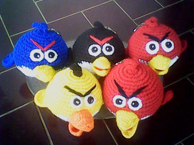 Amigurumi Boneka : Amigurumi angry birds rp diameter cm bahan benang