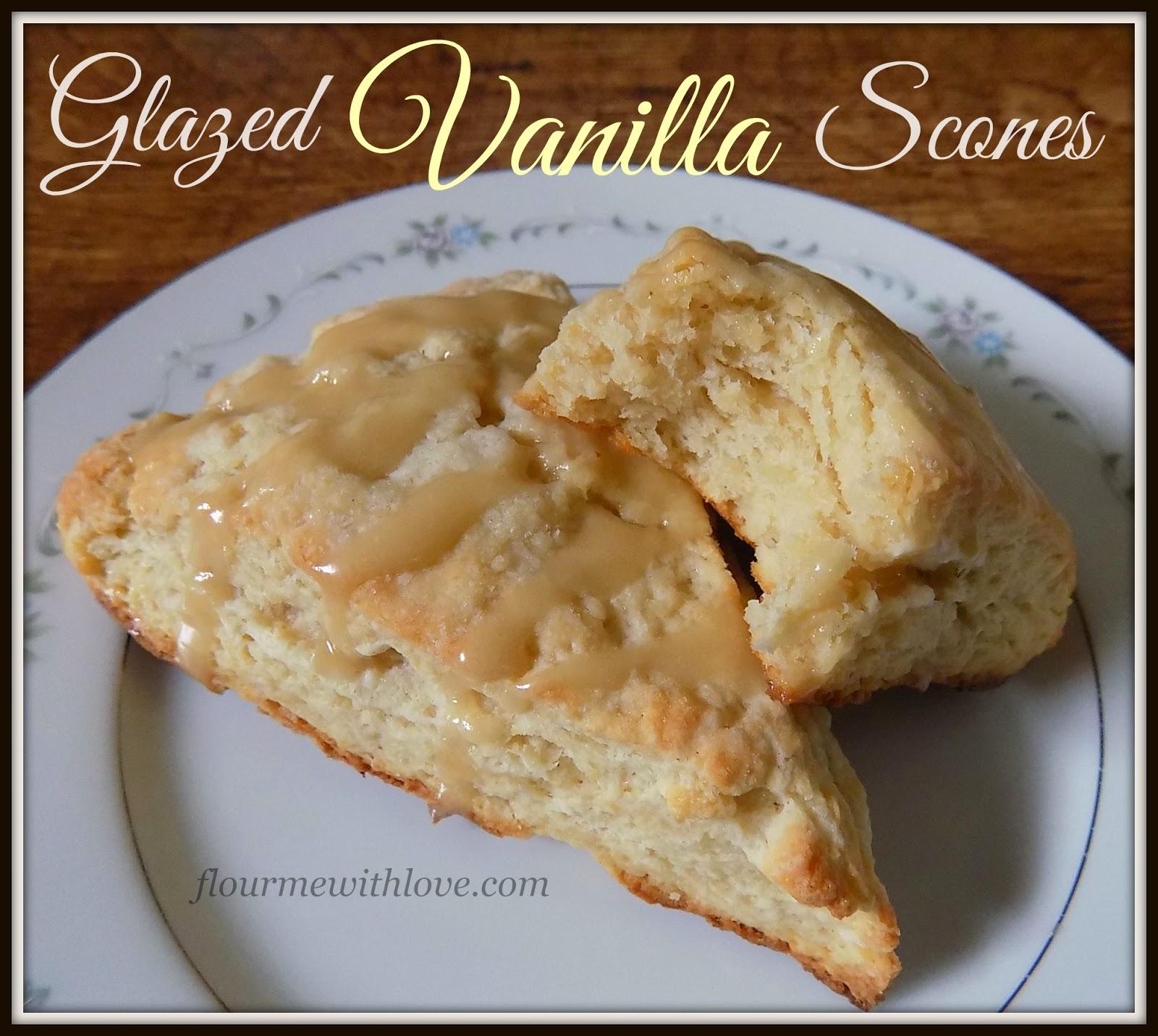 warm, vanilla, scones, drizzled, glaze, starbucks, breakfast, brunch, dessert
