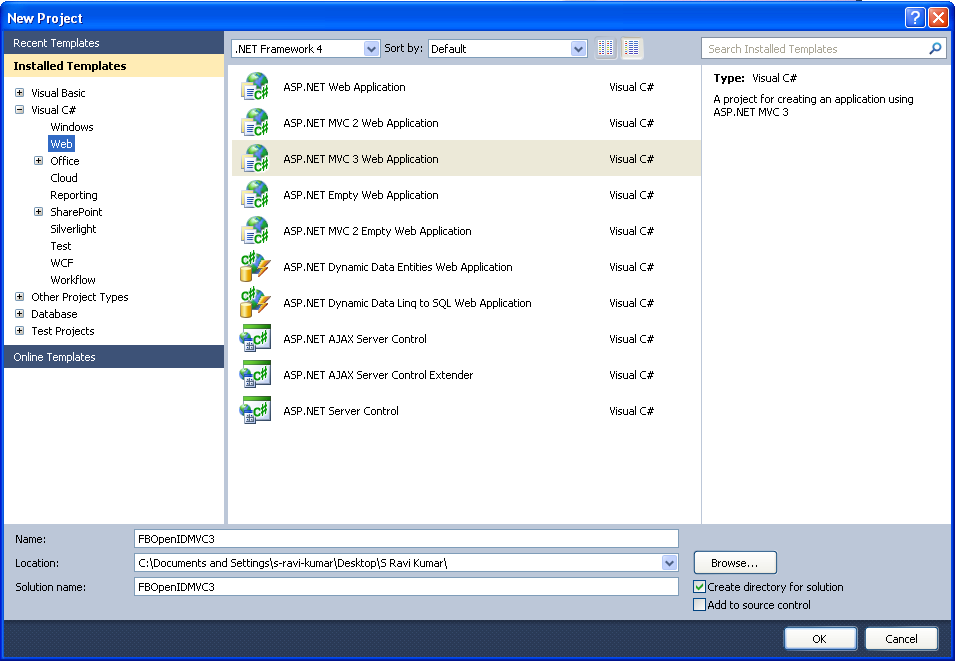 Open visual studio 2010 go to file gt new gt project gt web gt asp net