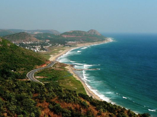 The port city of Vishakhapatnam