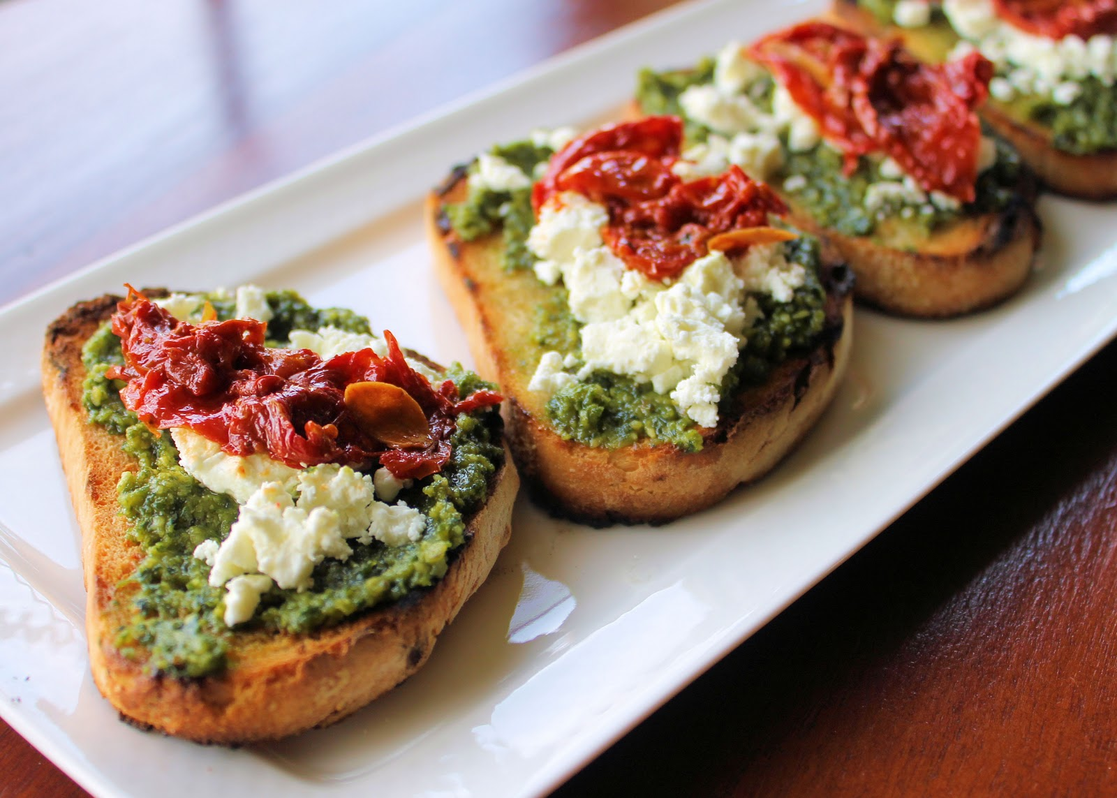Goat Cheese, Basil Pesto and Roasted Tomatoes Crostinis | Ingredients ...