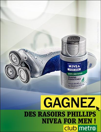 2 rasoirs électriques Philips Nivea for Men