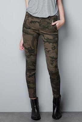 pantalones camuflaje Zara mujer