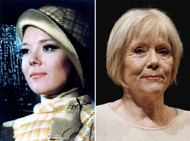 Diana Rigg young and old pictures