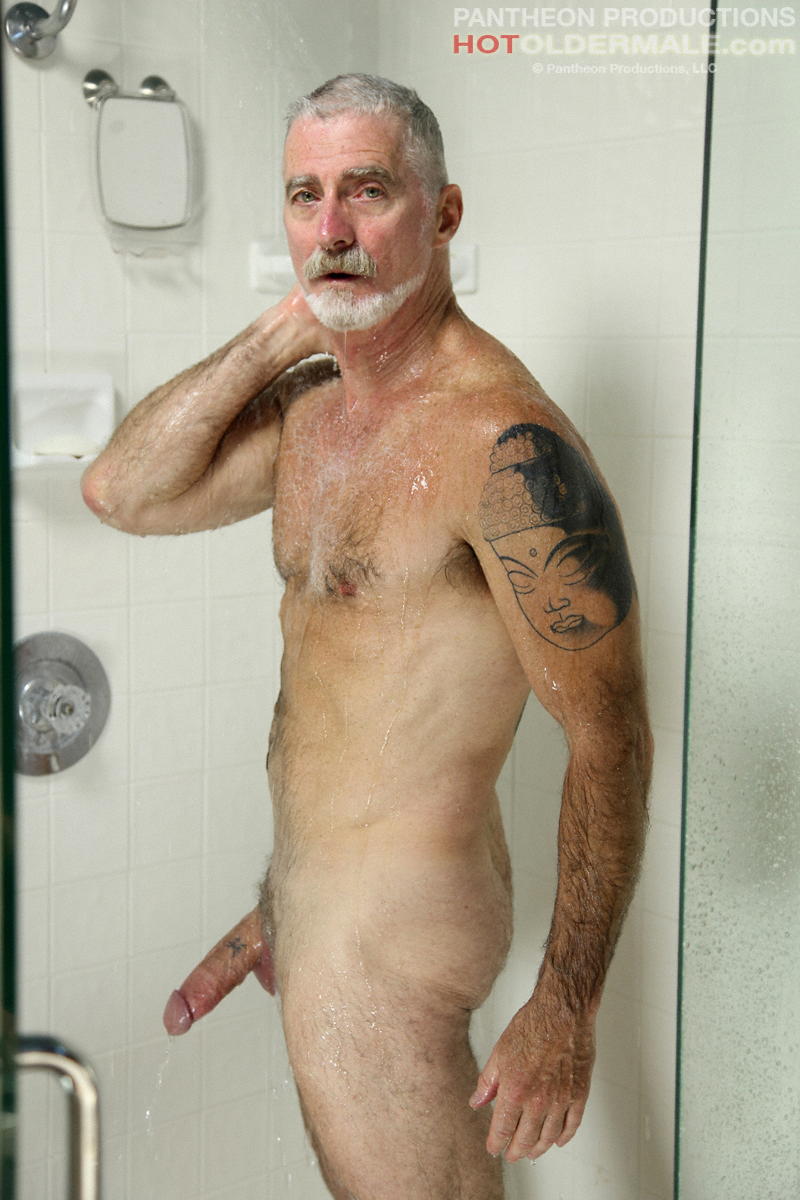 Needed shave naked daddy shower looking