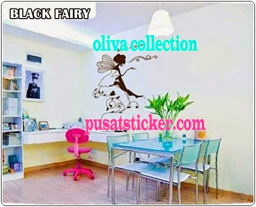 jual wall sticker new black fairy - olivacollection