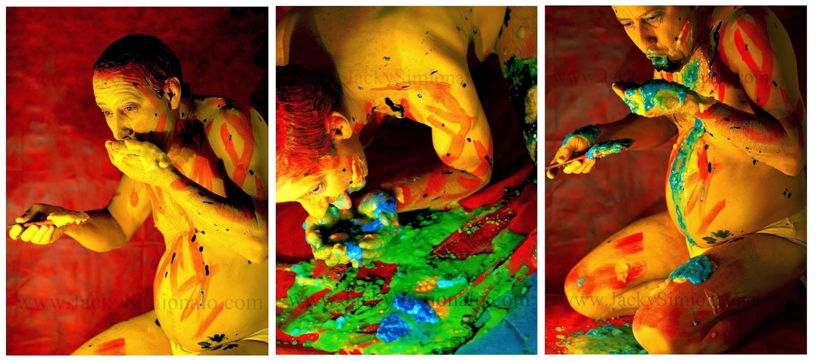 Jacky Simionato body art pintura corporal Guignard