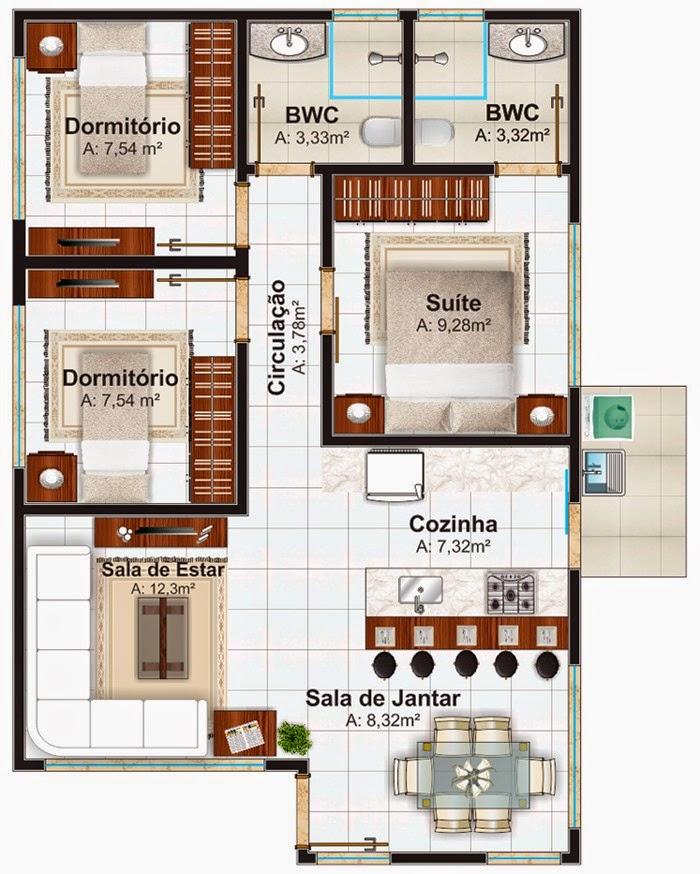 mini jardim quanto custa : mini jardim quanto custa:Projeto de casa pequena com 3 quartos