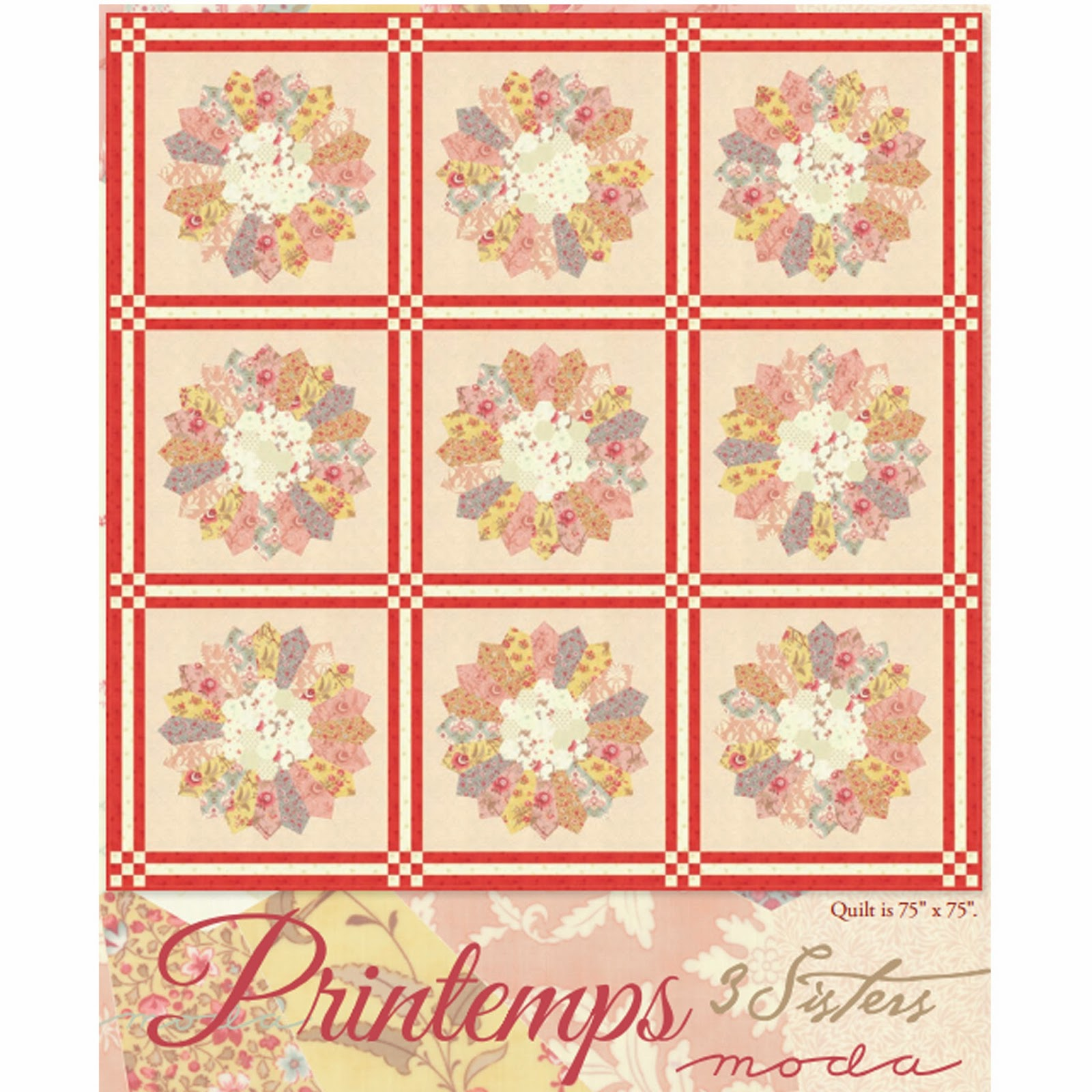 Free Quilt Patterns Moda Fabrics : Crazy Quilt Girl Fabric Shop: Moda PRINTEMPS Fabric