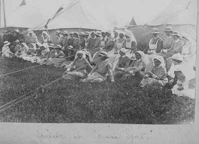 Nursing Sister Phillips WW1 Photo Album: 26V Spectators Canadian Sports