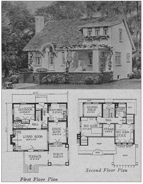 Cottage bungalow circa 1923 content in a cottage for House plans with sleeping porch