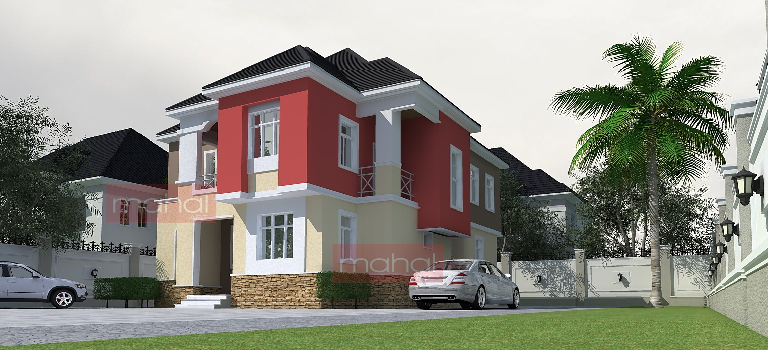 Contemporary nigerian residential architecture nwoko for Four bedroom maisonette plans